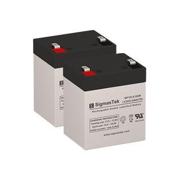 Ezip Scooter Z3 Nano GR Replacement Scooter Batteries (Set of 2 - 12V 5.5AH SLA Batteries)