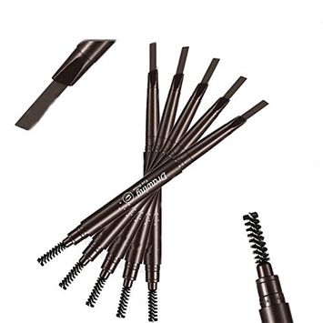 Drasawee Automatic Double Eyebrow Pencil with Brush Cosmetics Eyeliner Coffee