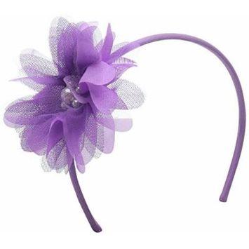 Gymboree Big Girls Flower Headband, Funfetti Purple, One Size
