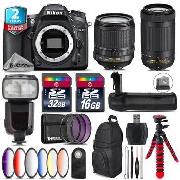 Tri Statecamera Nikon D7100 DSLR + AFS 18-105mm VR + AFP 70-300mm VR + Remote - 48GB Bundle