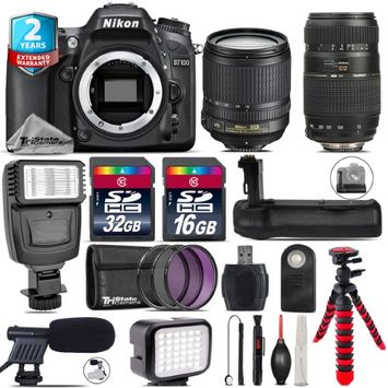 Tri Statecamera Nikon D7100 DSLR + AFS 18-105mm VR + Tamron 70-300mm + LED Kit + Flash + 48GB