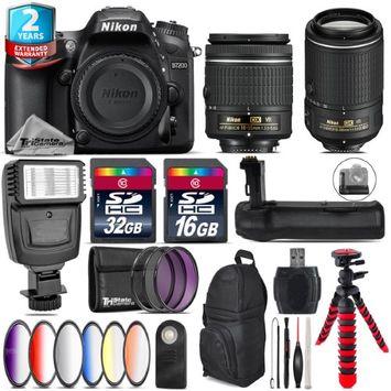 Tri Statecamera Nikon D7200 DSLR + AF-P 18-55mm VR + AFS 55-200mm VR + Slave Flash - 48GB Kit