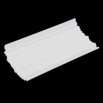 50Pcs/set Non-Toxic Food Grade Plastic Sucker Tubes Sticks For Making Candy Chocolate Cake Lollipop Pops White