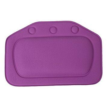 SODIAL Home & Garden Bathroom bathtub pillow bath bathtub headrest suction cup waterproof Bath Pillows Bathroom Products Purple