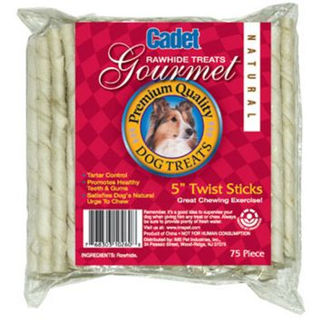 IMS Trading 10260-6 75-Pack Twist Stix for Dogs, 5-Inch, White