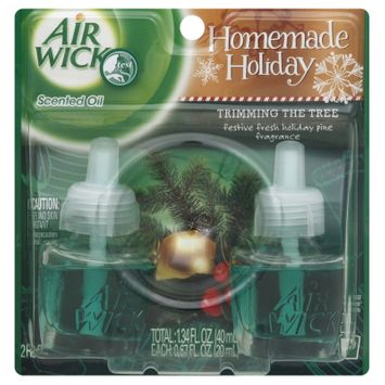 Reckitt Benckiser Inc. Homemade Holiday Scented Oil Refills, Trimming the Tree, 2- 0.67 fl oz (20 ml) refills [1.34 fl oz (40 ml)]
