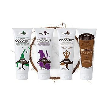 CocoRoo Complete Care Pack Organic Coconut Oil Moisturizers and Coffee Bean Body and Facial Scrub f