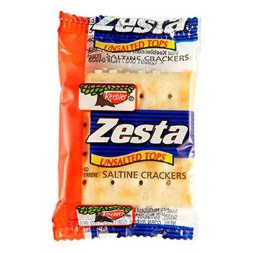 Keebler, Zesta, Saltine Crackers, Unsalted Tops, Single Serve, 0.20 oz(Pack of 300)