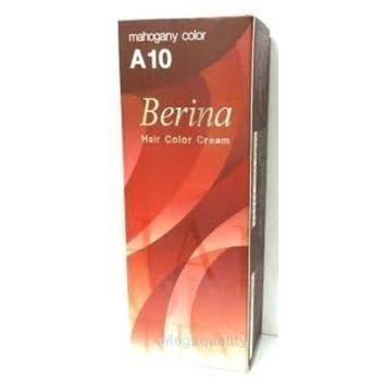 Berina Permanent Hair Dye (A 10) Mahogany Color Collection Thai 1 Pack