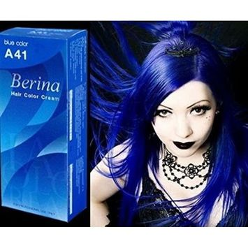 Berina A41 Blue Hair Color Dye Cream Professional Permanent Free Shipping