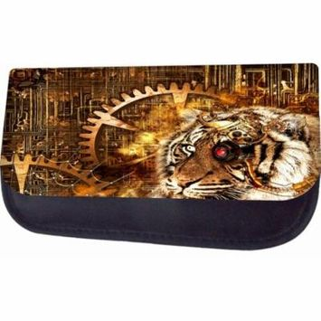 Steampunk Tiger Design Jacks Outlet TM Nylon-Lined Cosmetic Case