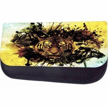 Tiger Splash Art Jacks Outlet TM Nylon-Lined Cosmetic Case