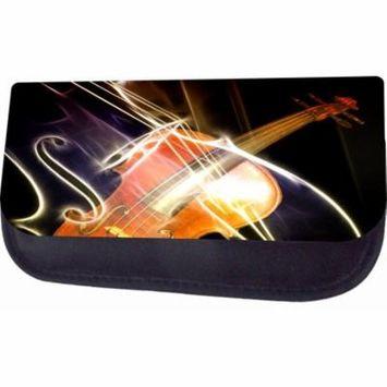 Violin Art Jacks Outlet TM Nylon-Lined Cosmetic Case