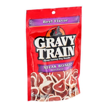 Gravy Train Steak Bones Beef Flavor Dog Snacks