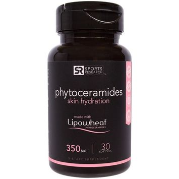 Phytoceramides 350mg; 30 Plant Derived Liquid Softgels With Clinically Proven Lipowheat®; Amazon Best Selling Anti Aging Product; Made In The USA; 100% Money Back Guarantee [30 Liquid softgels]