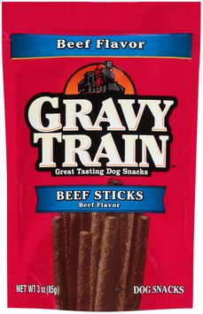 Gravy Train Beef Sticks Dog Snacks, 3-Ounce