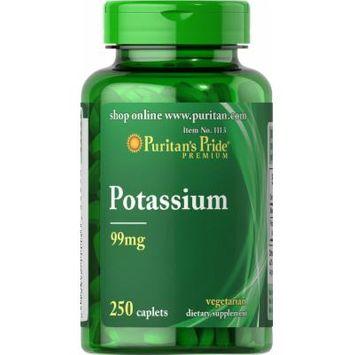 Puritan's Pride Potassium 99 mg-250 Caplets