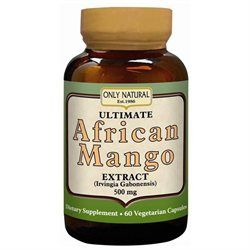 Only Natural Ultimate African Mango Extract 500 MG - 60 Capsules