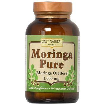 Only Natural Moringa Pure - 1000 mg - 90 Vegetarian Capsules (4-Pack)