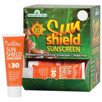 Miracle Of Aloe 12 Packs OZ Sunshield Sunscreen