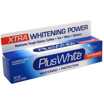 Plus White Whitening + Protection Toothpaste, Xtra Whitening Power Cool & Crisp Mint 3.50 oz