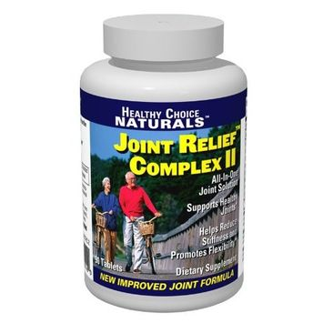 Joint Relief Complex II - All Natural Joint Pain Supplement with Glucosamine, MSM and Chondroitin - Extra-strength Formula/(1 Bottle) 90 Capsules