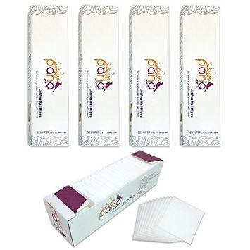 Pana Brand 1300 Pieces (4 Boxes) Professional Cotton 100% Lint Free Nail Art UV Gel Polish Acrylic Remover Nail Wipes