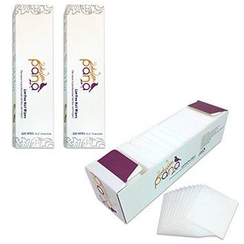Pana Brand 650 Pieces [2 Boxes] Professional Cotton 100% Lint Free Nail Art UV Gel Polish Acrylic Remover Nail Wipes