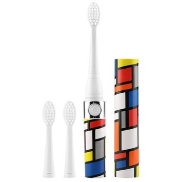 Eshion Sonicare Portable Travel Sonic Rechargeable Toothbrush Colorful (3 Replacement Brush Heads)