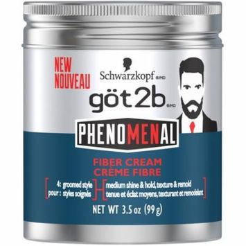 Got2b PhenoMENal Fiber Hair Cream, 3.5 Ounce
