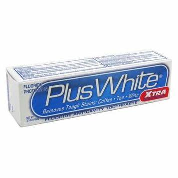 6 Pack Plus White Whitening + Protection Toothpaste, Xtra Whitening 3.50 oz each