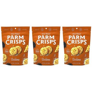 ParmCrisps Sesame 100% Cheese Crisps - Keto Friendly, Gluten Free, 1.75 Ounce Bag, Pack of 3 …