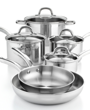 Martha Stewart Collection Stainless Steel 10 Piece Cookware Set