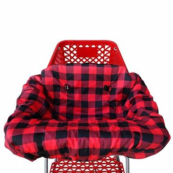 Shopping cart Covers for Baby   High Chair and Grocery Cover for Babies   Infants  Toddlers Trolley Seat for Boys and Girls (Buffalo Plaid)