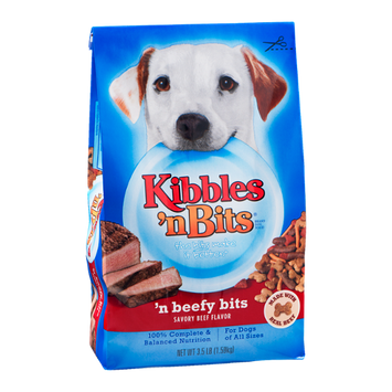 Kibbles 'n Bits Dog Food n' Beefy Bits