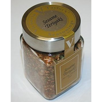 Sesame Teriyaki for Stir Fry – Victoria Taylors 5.1 Oz Jar – Excellent for Fish, Chicken or Steak, Gourmet Flavor for Asian Dishes, All Natural made with Authentic Spices, Great for Teriyaki Sauce and Glaze – Try it with Homemade Teriyaki Beef Jerky!