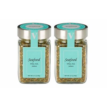 Seafood Seasoning - 2 Pack. Includes chives, thyme, oregano and lemon, accented with onion and bell pepper. Delicious in all fish and seafood recipes. VICTORIA TAYLOR'S BY VICTORIA GOURMET. [Seafood Seasoning]