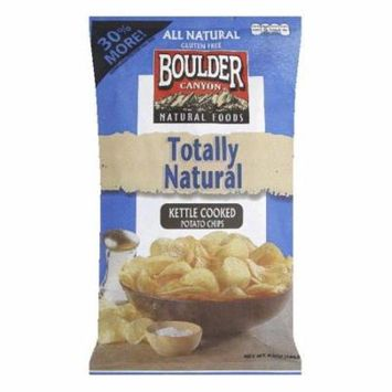 Boulder Canyon Totally Natural Kettle Cooked Potato Chips, 6.5 Oz (Pack of 12)