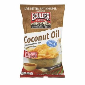 Boulder Canyon Coconut Oil Kettle Cooked Potato Chips Mesquite Barbecue, 5.25 OZ