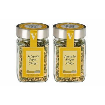 Jalapeno Pepper Flakes - 2 Pack - Add them to chili, pizza, pasta, marinades or any spicy recipe. VICTORIA TAYLOR'S BY VICTORIA GOURMET. [Jalapeno Pepper Flakes]