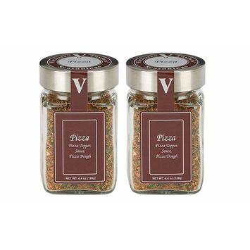 Pizza - 2 Pack -Blended especially for the pizza lover. Garlic, onion, oregano, red pepper, basil, chipotle, fennel, black pepper, sea salt, parsley. VICTORIA TAYLOR'S BY VICTORIA GOURMET! [Pizza]