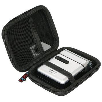 For Panasonic ES-RS10-S Men's Pocket Shaver silver ESRS10 Hard Case Carrying Travel Bag by Khanka