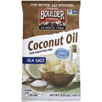 Boulder Canyon Coconut Oil Sea Salt Potato Chips, 5.25 oz, (Pack of 12)