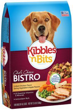 Kibbles 'n Bits Bistro Meals Grilled Chicken with Spring Vegetable & Baked Apple Flavors Dry Dog Food, 3.5-Pound