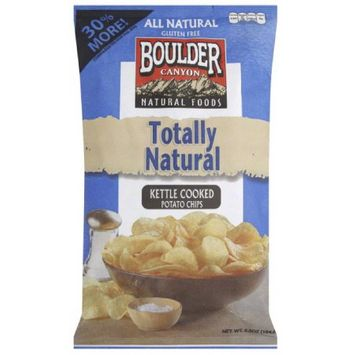 Boulder Canyon Sea Salt Authentic Foods Kettle Cooked Potato Chips, 6.5 oz, (Pack of 12)