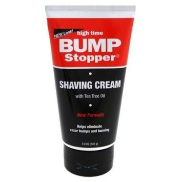High Time Bump Stopper Shaving Cream W/Tea Tree Oil 5oz Tube (3 Pack)