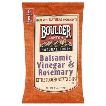 Boulder Canyon Natural Foods Kettle Cooked Potato Chips, Balsamic Vinegar & Rosemary, 5 oz (142 g)