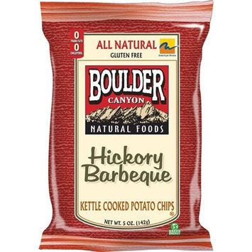 Boulder Canyon Potato Chips, Hickory BBQ, 2-Ounce (Pack of 24)