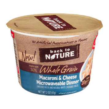 Back to Nature Whole Grain Macaroni & Cheese Dinner