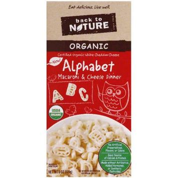 Back to Nature Organic Alphabet Macaroni & Cheese Dinner, 6 oz, (Pack of 6)